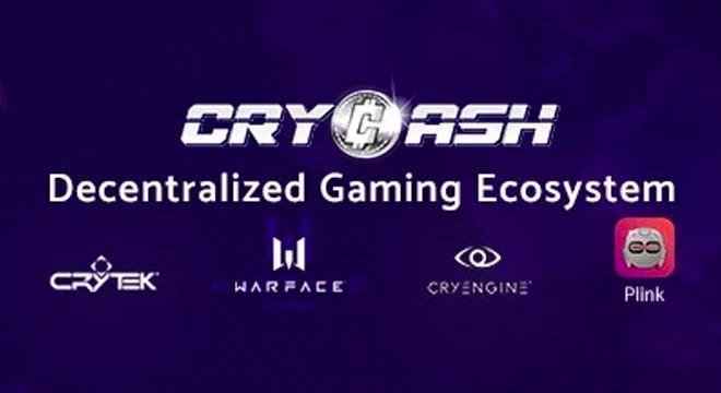 CRYCASH anuncia lançamento de tokens e parceria com a Crytek trazendo milhões de Gamers para a cripto esfera