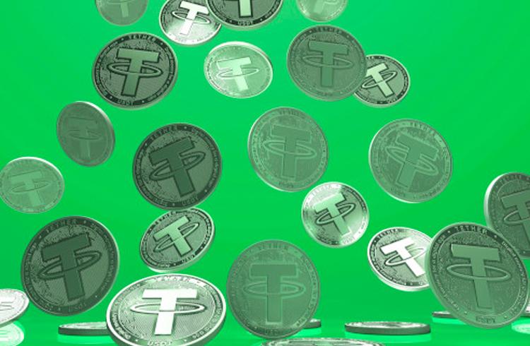 Tether emite 250 milhões de tokens e chega próximo de ser a 10ª maior criptomoeda do mercado