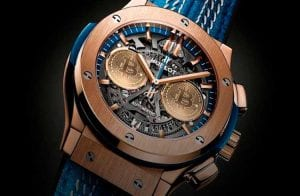 Marca de luxo lança relógio exclusivo para comemorar o 10º aniversário do Bitcoin