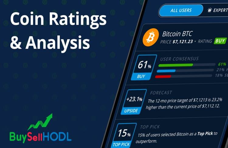 BuySellHODL lança sua plataforma de classificações e metas de preço de criptoativos