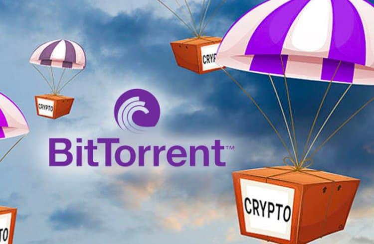Airdrop do token da BitTorrent é concluído com sucesso; BTT salta 10% e Tron desvaloriza