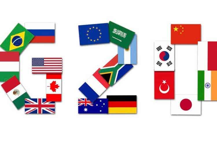 Grupo G20 deve aconselhar países a tratarem as exchanges de criptoativos como bancos