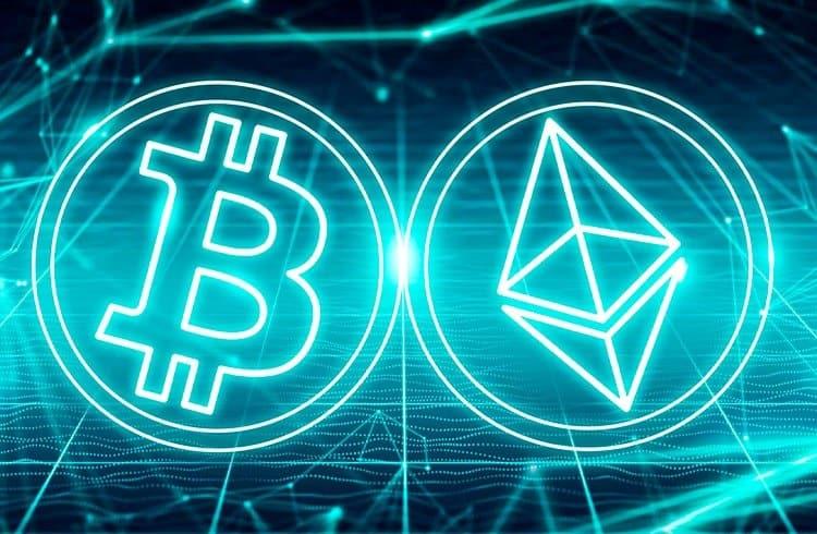 Bitcoin e Ethereum impulsionam o mercado de criptoativos que atinge alta do ano