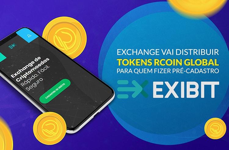 Exchange EXIBIT distribuirá tokens RCOIN para os 20 mil primeiros clientes