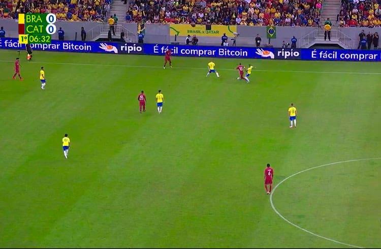 Exchange Ripio aparece em amistoso da seleção brasileira