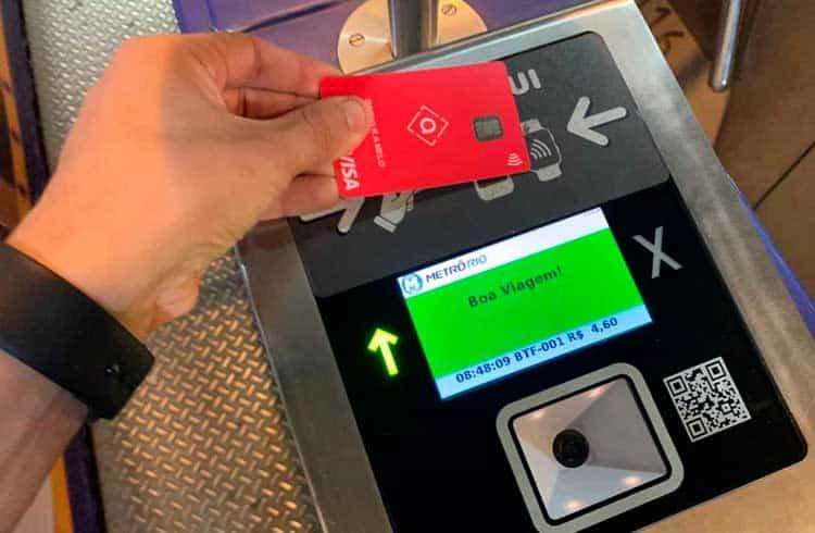 Agora é possível pagar o metrô do Rio de Janeiro com cartão Visa carregado com Bitcoin