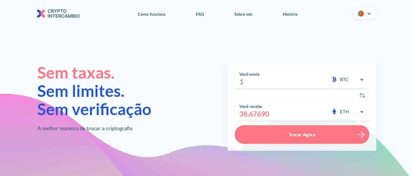 Crypto InterCambio serviço de troca instantânea