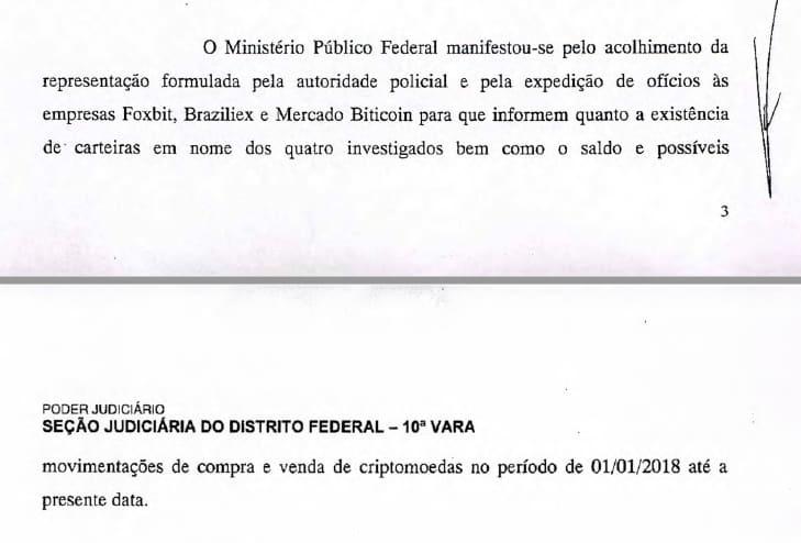 Juiz ordena que exchanges brasileiras forneçam dados sobre suspeitos envolvidos no vazamento de mensagens de Sergio Moro