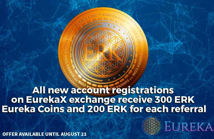 A Eureka Network lança Exchange de alta liquidez atualizada e com bônus de inscrição de 300 ERK