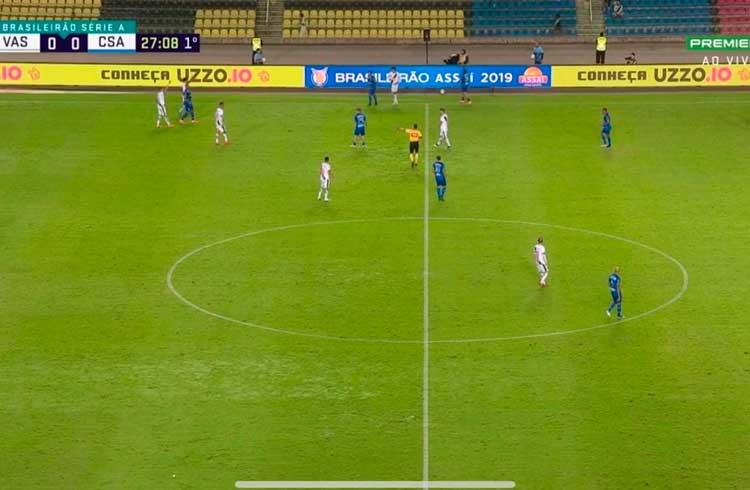 UZZO marca presença em partida de futebol do campeonato brasileiro novamente