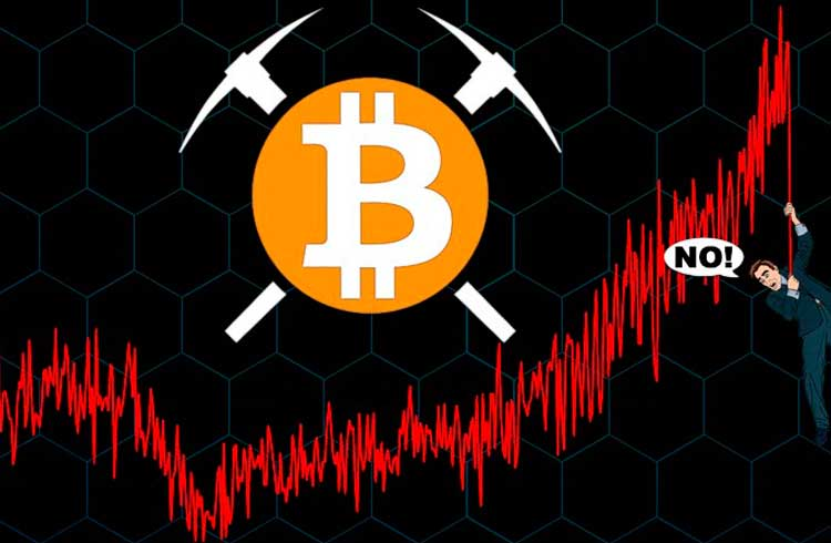 Hashrate do Bitcoin sofre queda inesperada