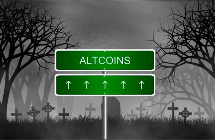 Mercado de criptoativos valoriza em movimento liderado pelas altcoins