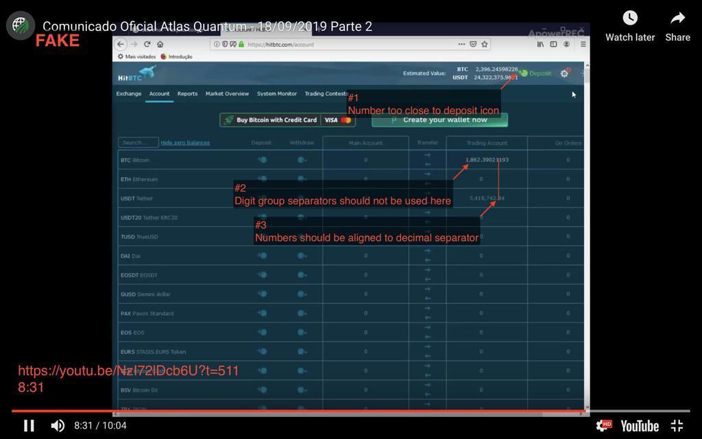 Print do vídeo divulgado pela Atlas