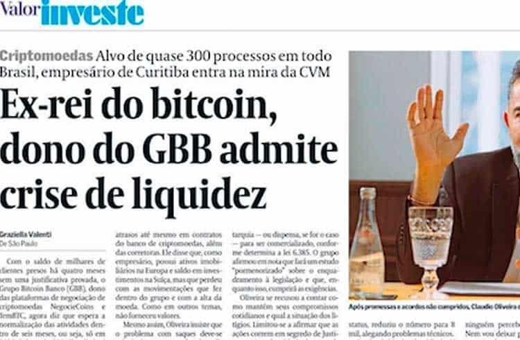 Cláudio Oliveira do GBB diz que empresas do grupo não têm liquidez para honrar com saques