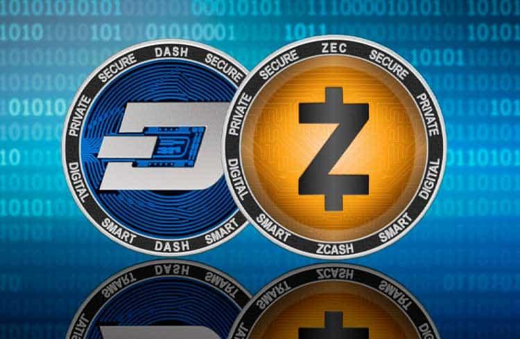 foco em privacidade Zcash e Dash