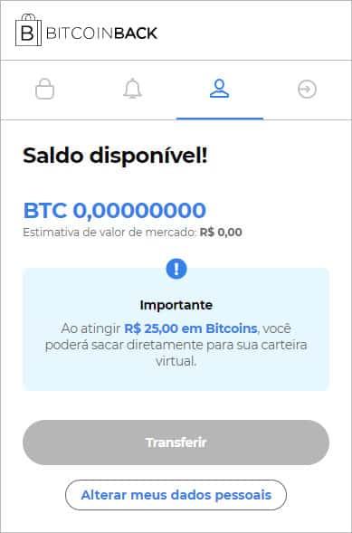 BitcoinBack app