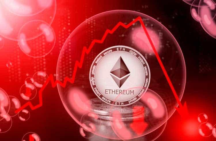 Ethereum se aproxima de seu menor preço em nove meses; Mercado de DeFi segue fortalecido