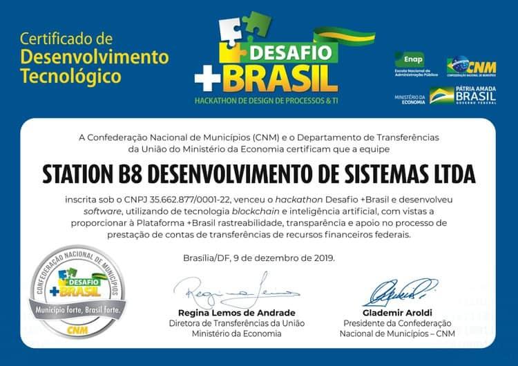 certificado de desenvolvimento tecnológico