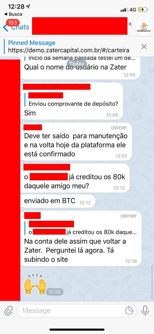 um investidor supostamente teria feito um aporte de R$80 mil em Bitcoin na plataforma da gbb