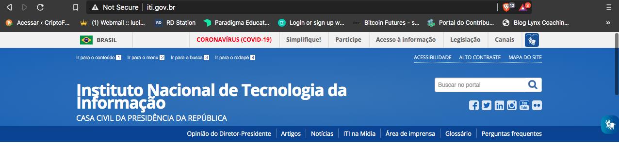 O site do Instituto Nacional de Tecnologia da Informação (ITI), órgão que emite certificados digitais no Brasil, foi hackeado na última sexta-feira, 10 de abril.