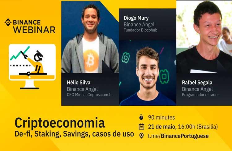 Binance fará webinar em português sobre criptoeconomia, DeFi e outros nesta quinta