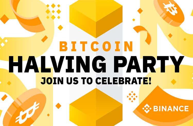 Binance realizará live para acompanhar o halving do Bitcoin às 14h