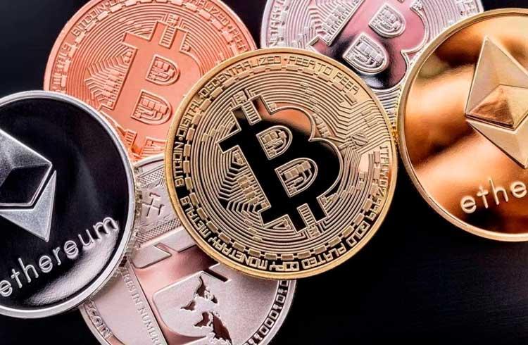 Bitcoin, Tether e Ethereum representam cerca de 90% do volume de mercado