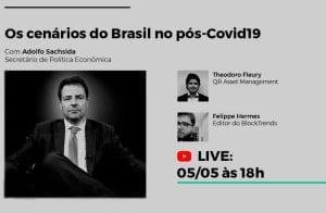 Em live, QR Capital discutirá cenário econômico do Brasil pós pandemia com número dois de Paulo Guedes