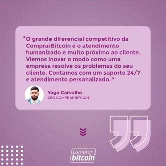 CEO da ComprarBitcoin, Yago Carvalho