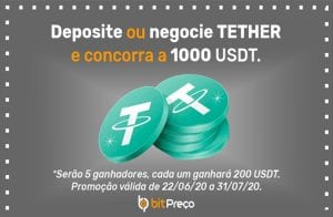 BitPreço vai sortear 1.000 USDT; Veja como participar!