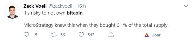 É arriscado não ter Bitcoins