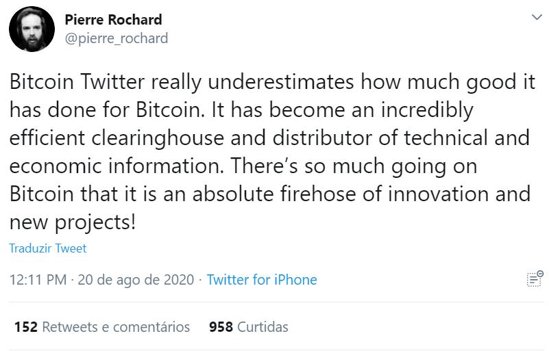 Pierre Rochard sobre o Crypto Twitter