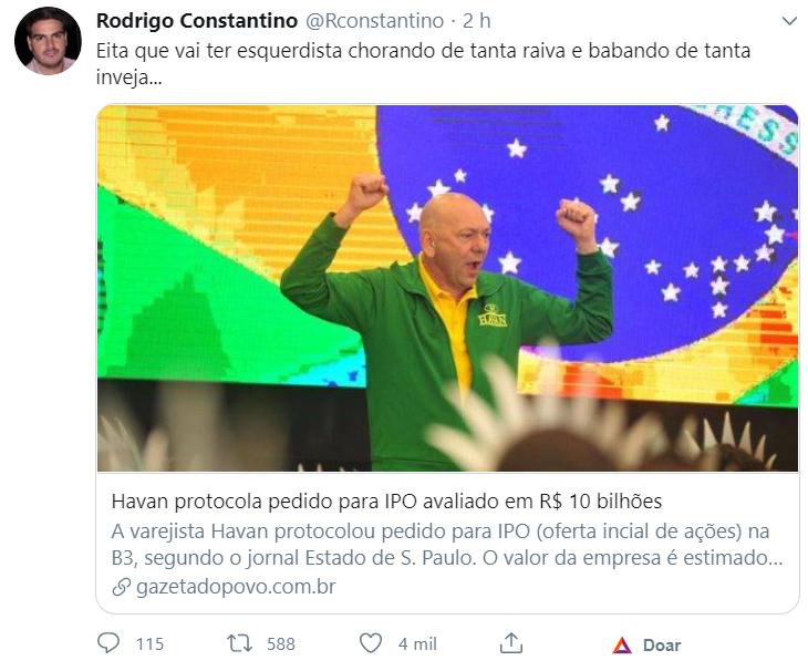 Rodrigo Constantino - Twitter