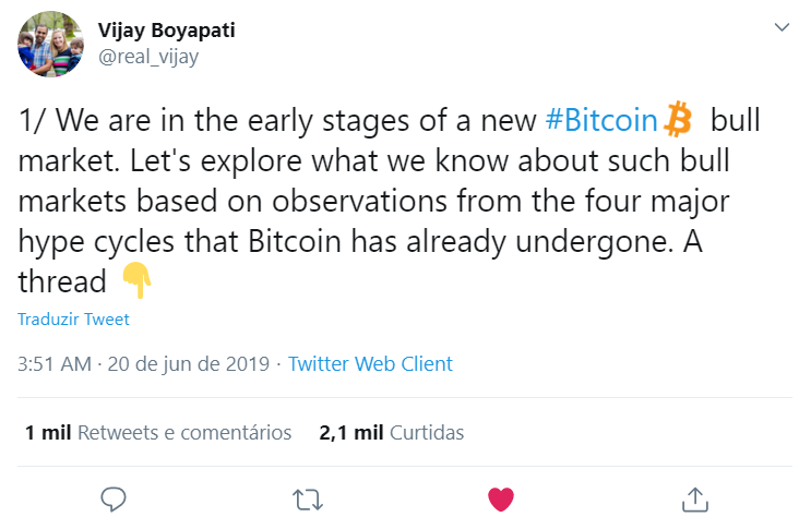 Vijay Boyapati fala sobre o bull run do Bitcoin