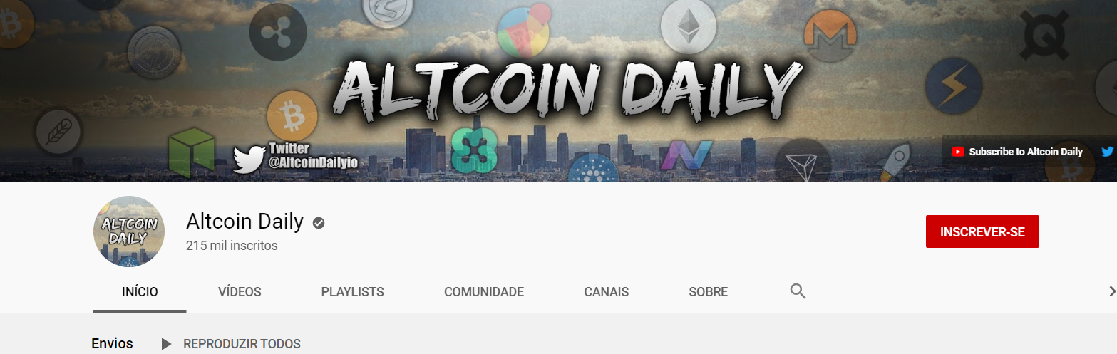 Youtube baniu Altcoin Daily
