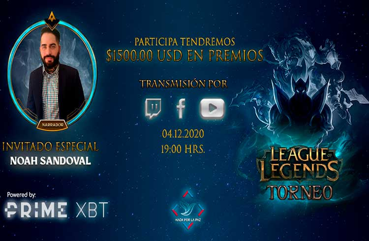 PrimeXBT patrocina torneio de League of Legends com mais de US$ 1.500 de prêmios