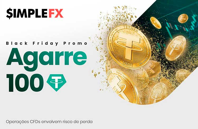 SimpleFX dará 100 tether para todos os traders na Black Friday!