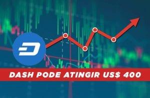Análise Dash: DASH pode bater US$ 400 após subir mais de 100%