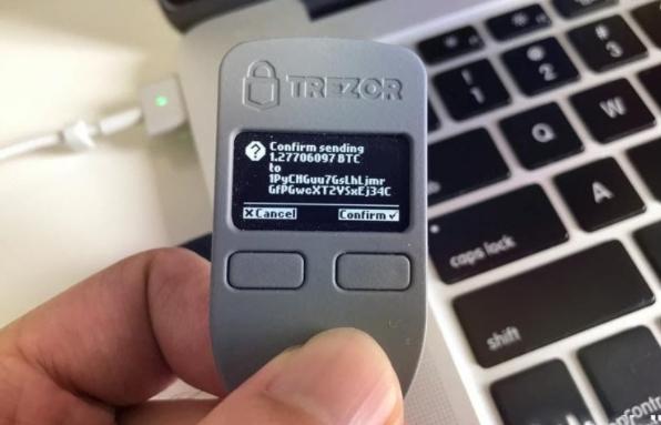 Carteira em hardware da fabricante Trezor