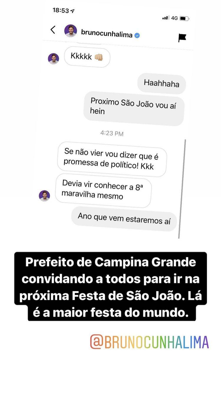 Repercussão chega a prefeito eleito de Campina Grande