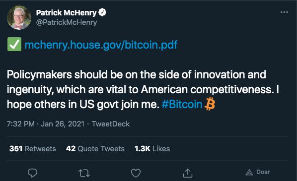 Deputado divulga link de white paper do Bitcoin em seu site
