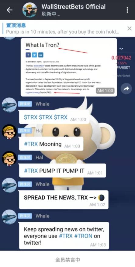 Suposta intenção de pump da TRX