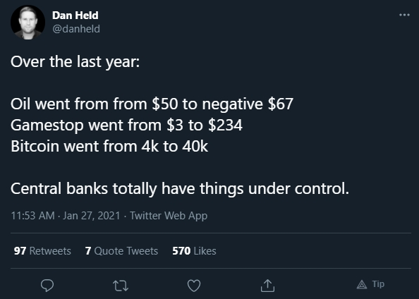 Dan Held critica bancos centrais