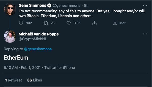Van de Poppe responde à mensagem de Simmons