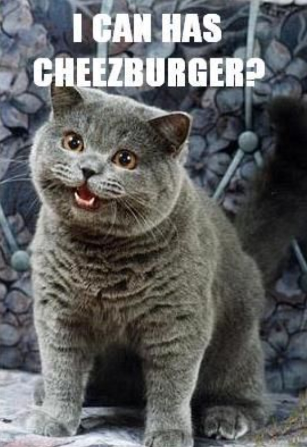 """Posso comer um cheeseburger?"". Fonte: Opensea"