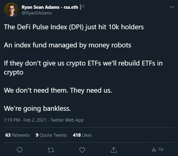 Ryan Sean fala sobre índices DeFi e ETF