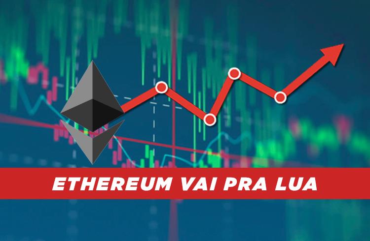 Ethereum dispara 25% e mira os US$ 2.300