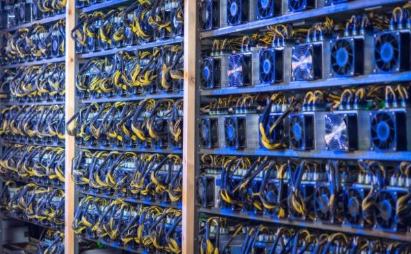 Set of Bitcoin mining machines. Source: Google