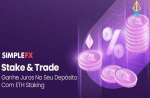 O primeiro aplicativo de trading a introduzir staking de criptomoedas