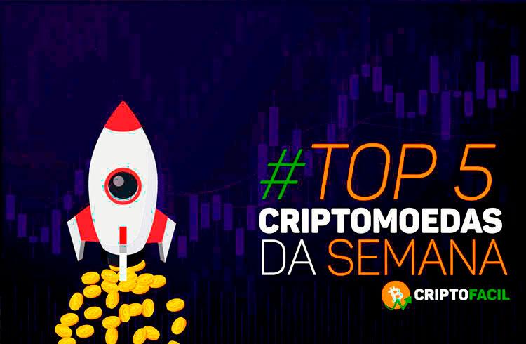 DOGE e XRP dominam mercado: confira as criptomoedas que mais se valorizaram na semana